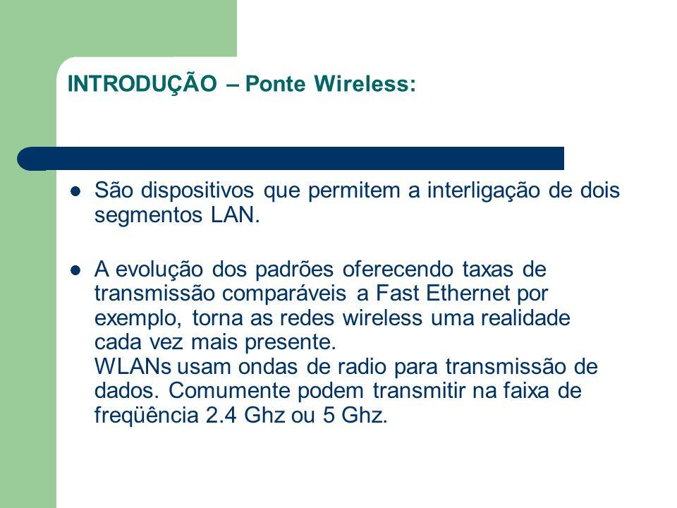 INTRODUÇÃO – Ponte Wireless: