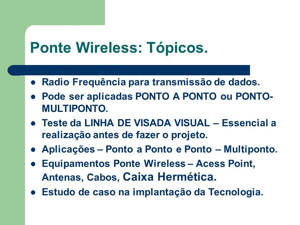 Ponte Wireless: Tópicos.