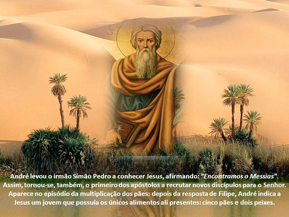 André levou o irmão Simão Pedro a conhecer Jesus, afirmando: Encontramos o Messias .