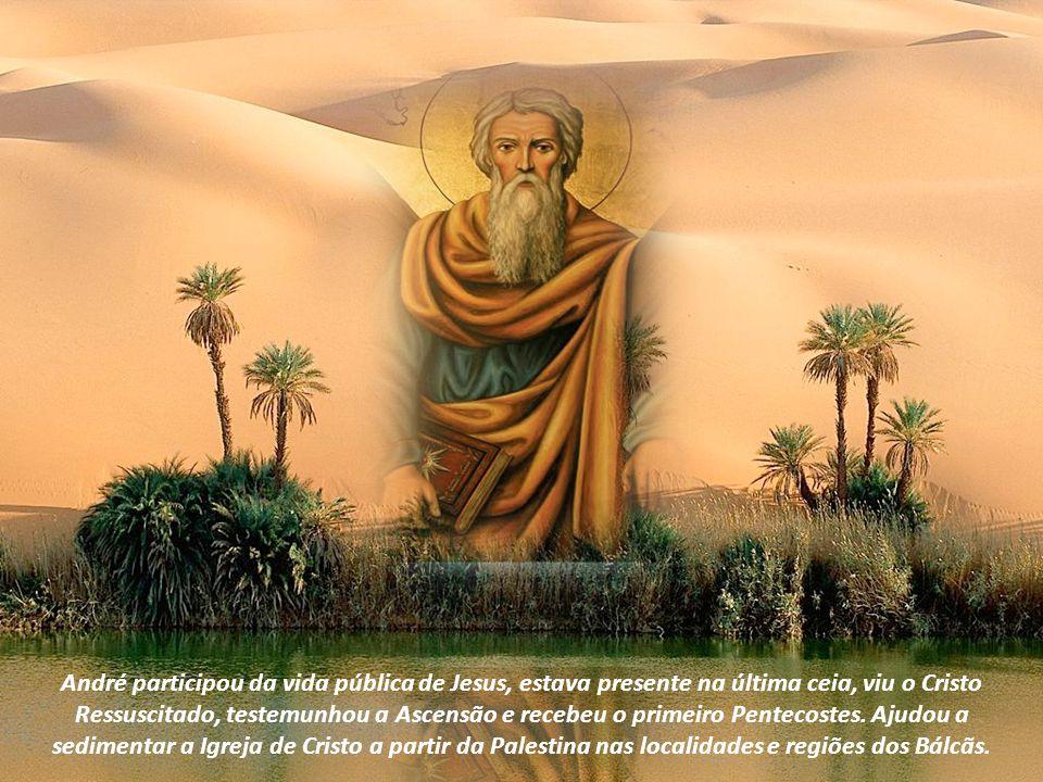 André participou da vida pública de Jesus, estava presente na última ceia, viu o Cristo Ressuscitado, testemunhou a Ascensão e recebeu o primeiro Pentecostes.