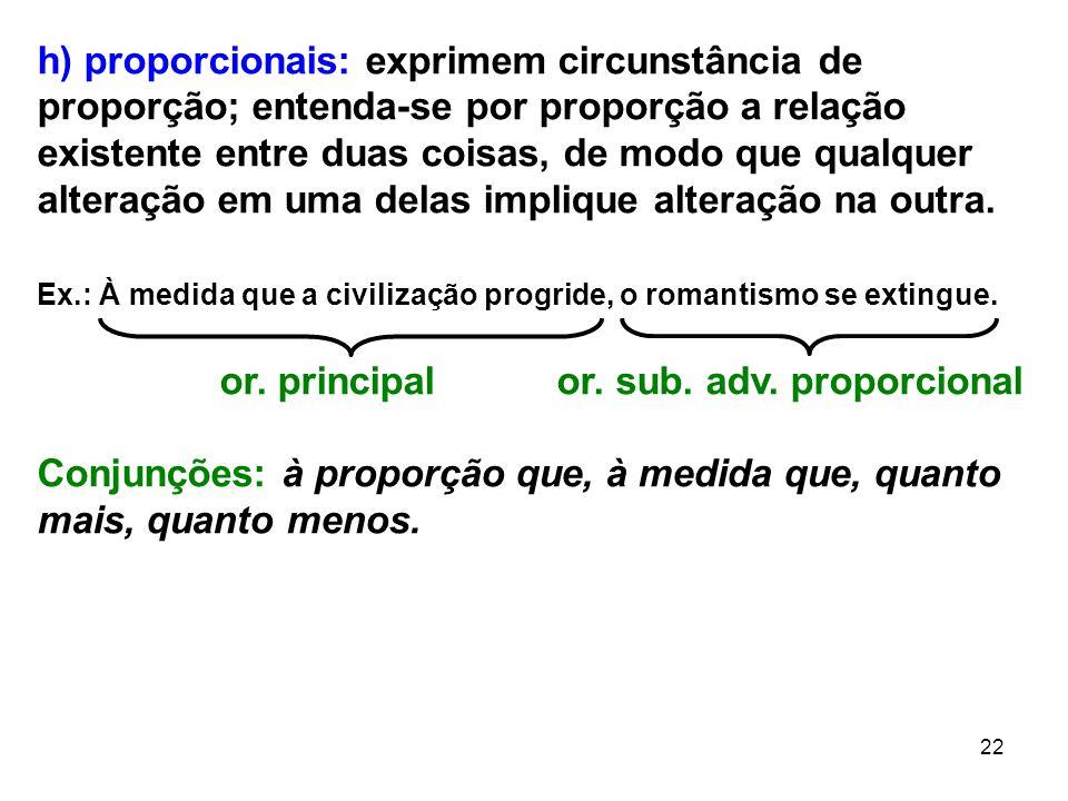 or. principal or. sub. adv. proporcional