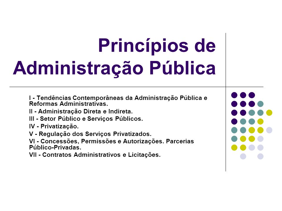 Princípios de Administração Pública