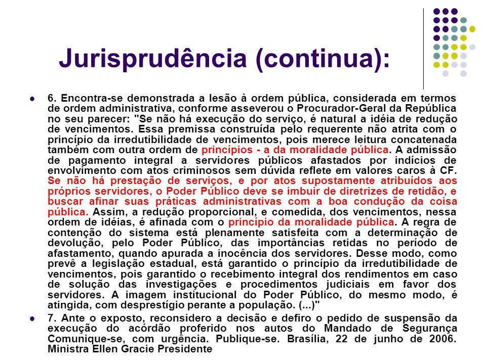 Jurisprudência (continua):