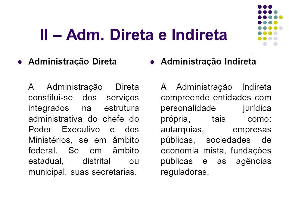 II – Adm. Direta e Indireta