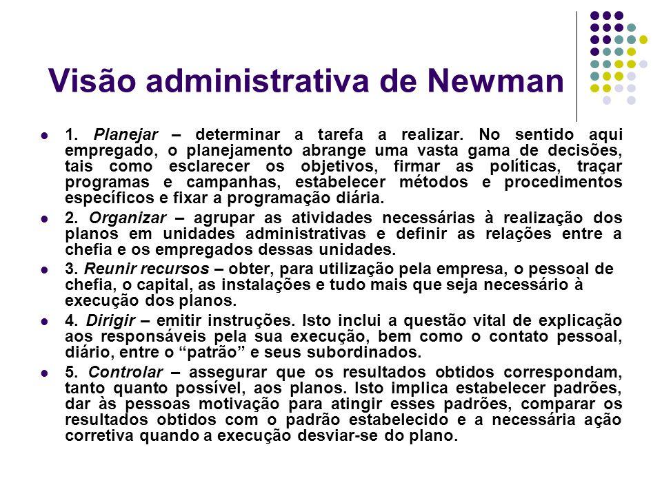 Visão administrativa de Newman