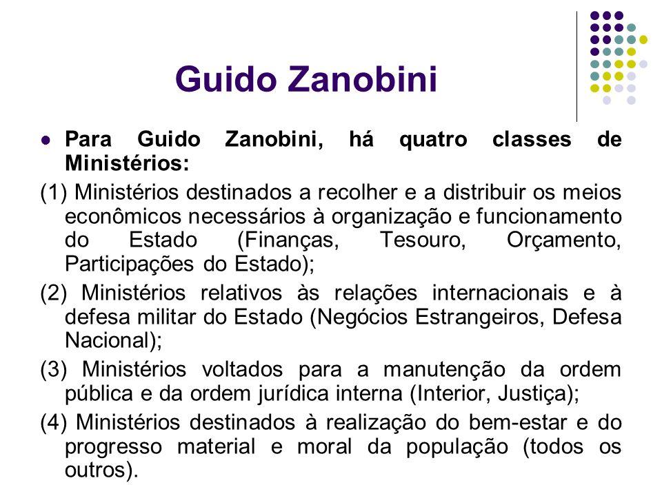 Guido Zanobini Para Guido Zanobini, há quatro classes de Ministérios: