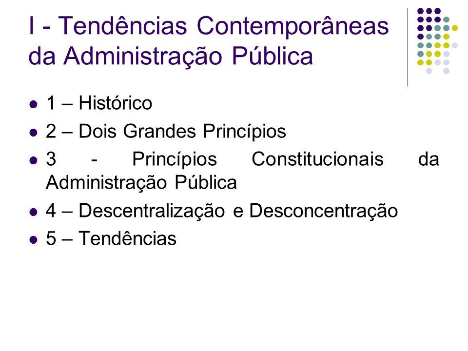 I - Tendências Contemporâneas da Administração Pública