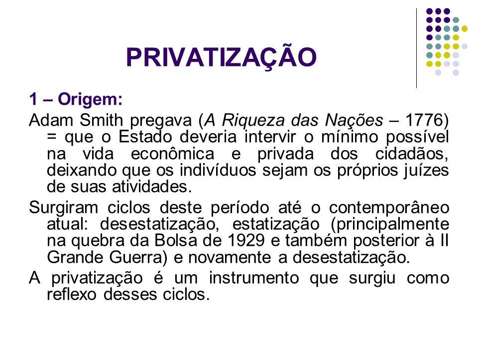 PRIVATIZAÇÃO 1 – Origem: