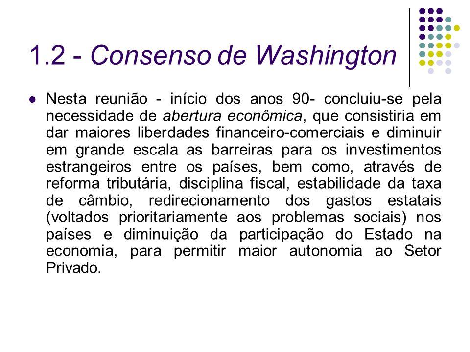 1.2 - Consenso de Washington