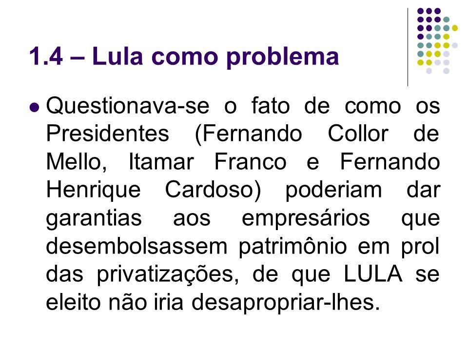 1.4 – Lula como problema
