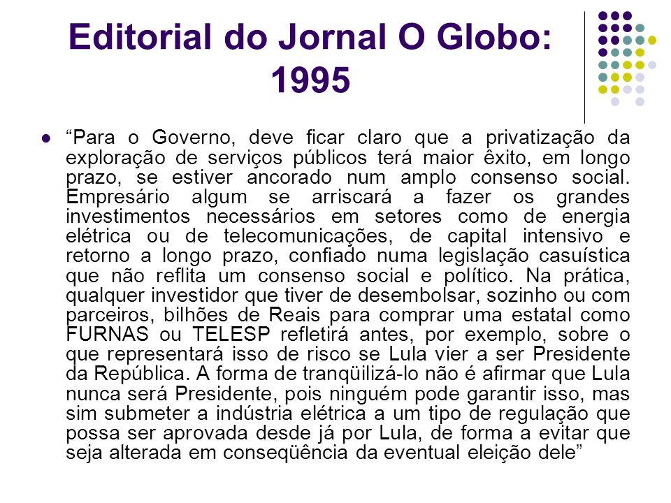 Editorial do Jornal O Globo: 1995