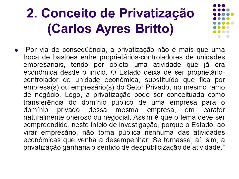 2. Conceito de Privatização (Carlos Ayres Britto)