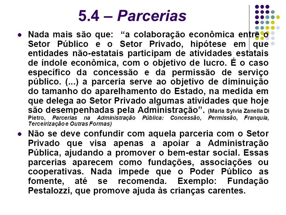 5.4 – Parcerias