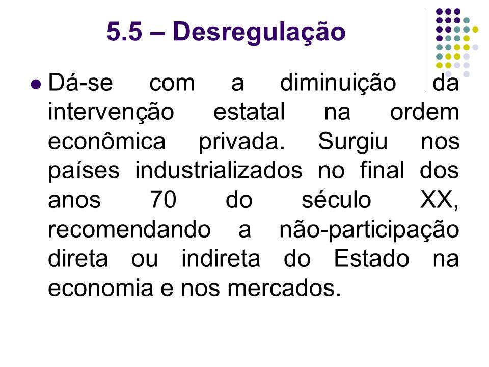 5.5 – Desregulação