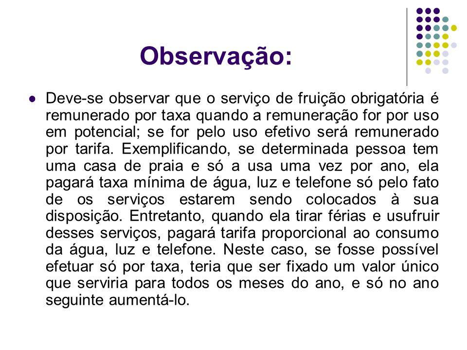 Observação: