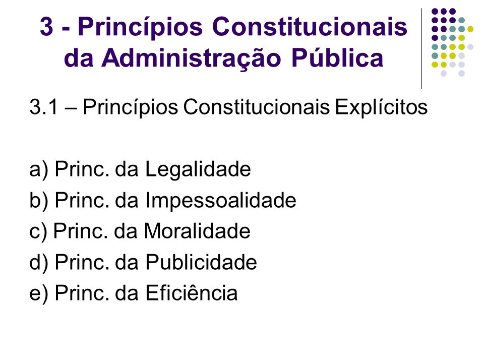 3 - Princípios Constitucionais da Administração Pública