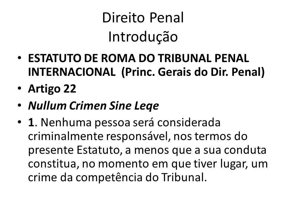 Direito Penal Introdução