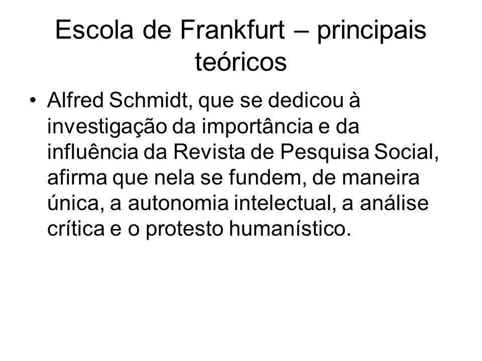 Escola de Frankfurt – principais teóricos