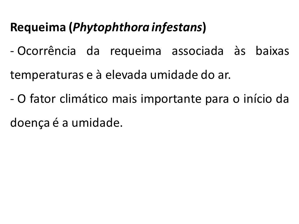 Requeima (Phytophthora infestans)
