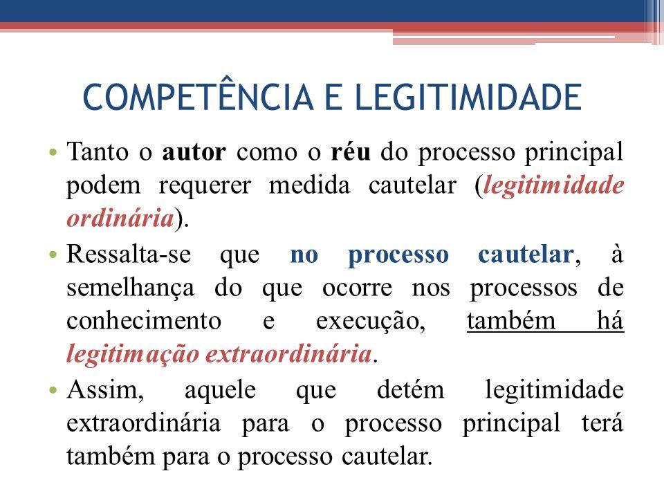 COMPETÊNCIA E LEGITIMIDADE