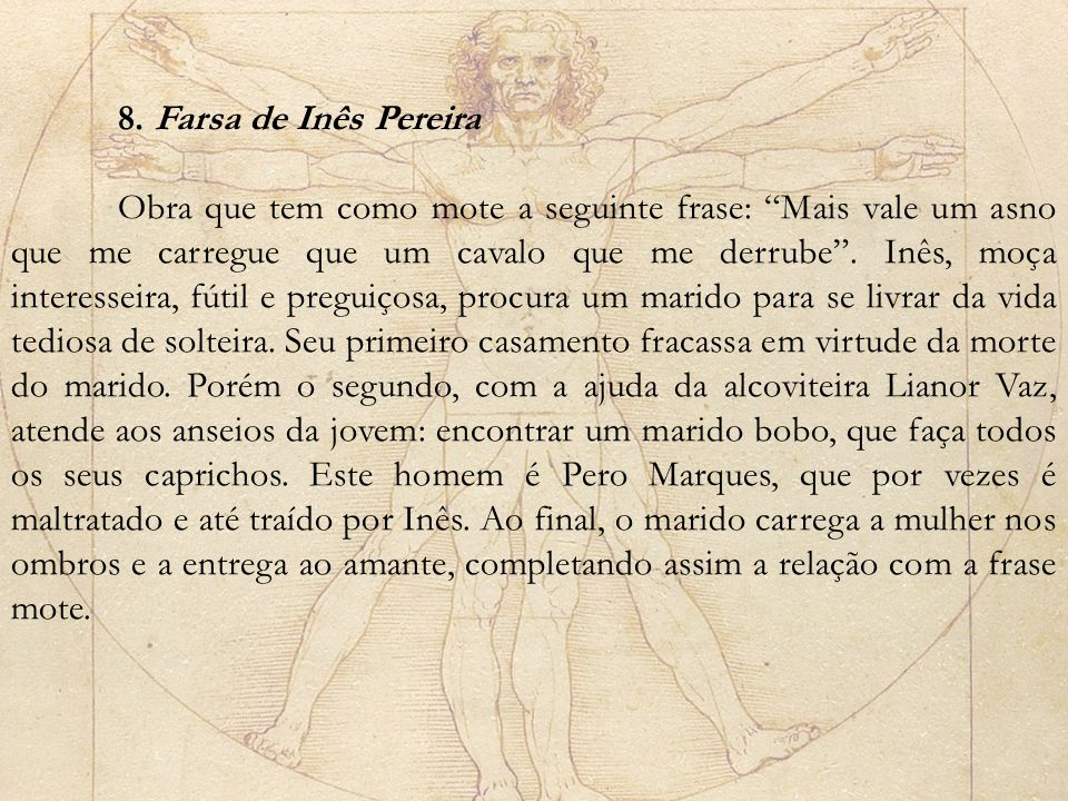 8. Farsa de Inês Pereira