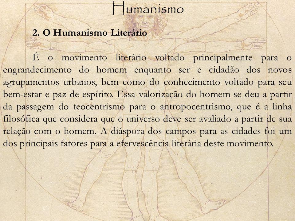 Humanismo 2. O Humanismo Literário.