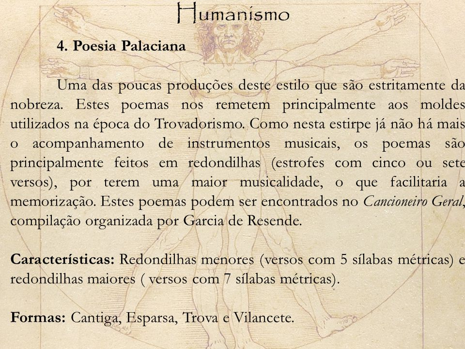 Humanismo 4. Poesia Palaciana.