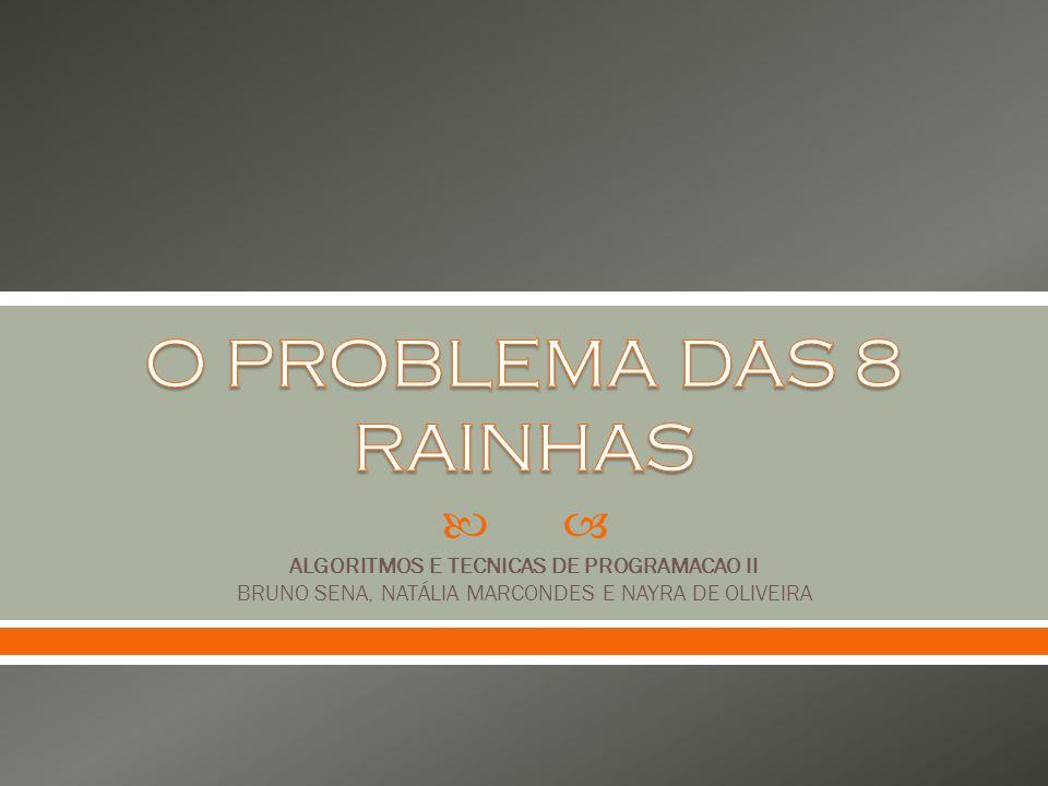 ALGORITMOS E TECNICAS DE PROGRAMACAO II