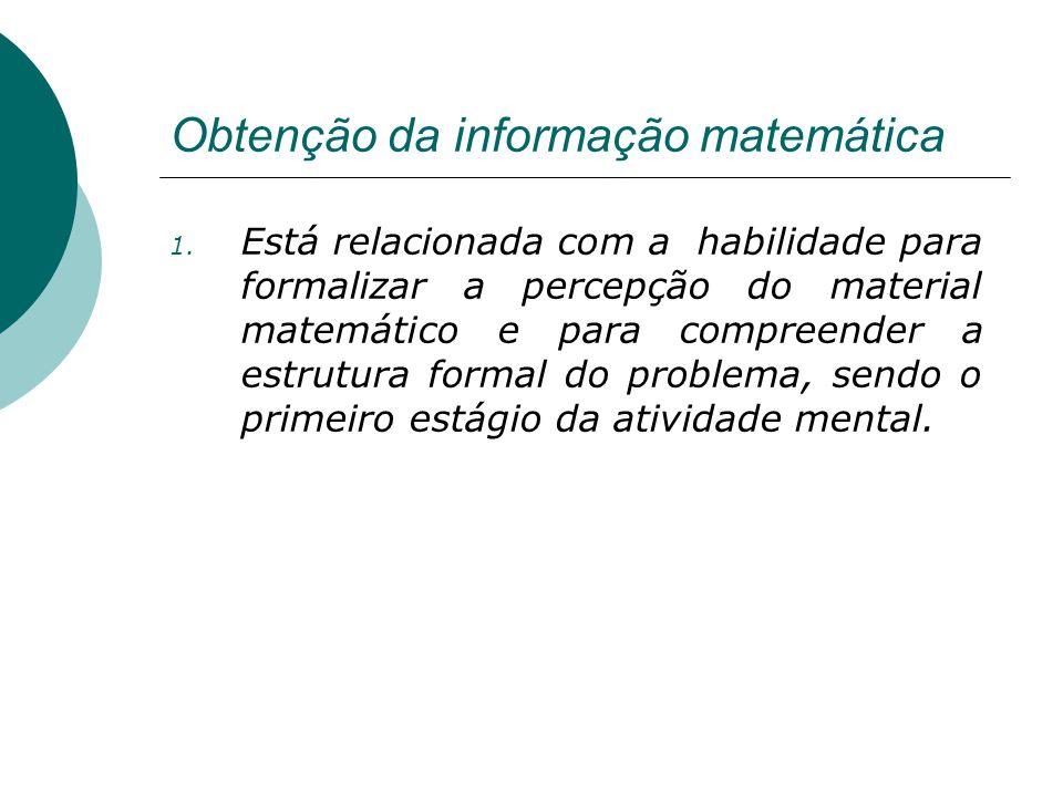 Obtenção da informação matemática