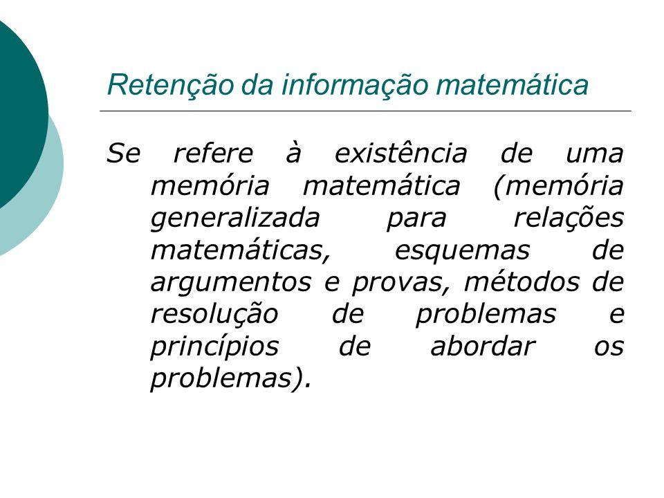 Retenção da informação matemática