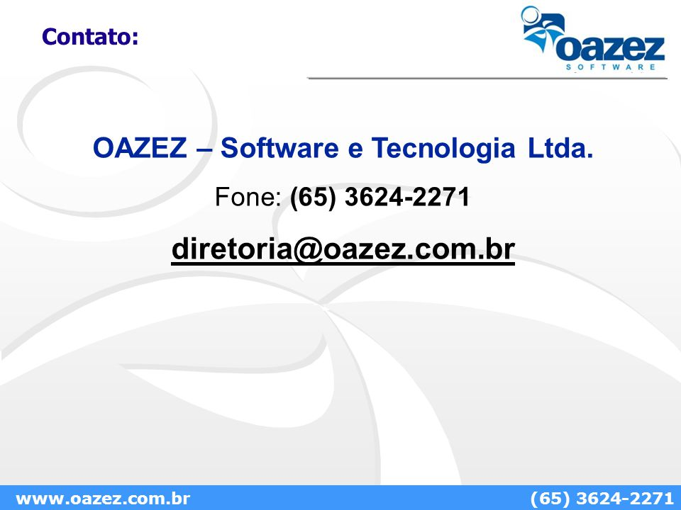 OAZEZ – Software e Tecnologia Ltda.