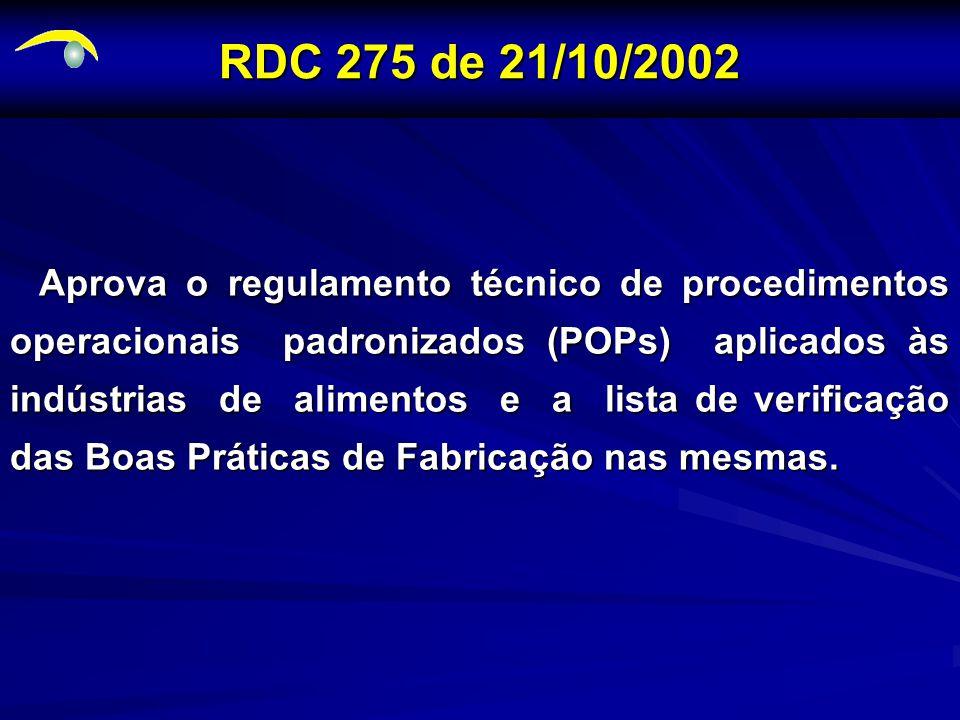 RDC 275 de 21/10/2002