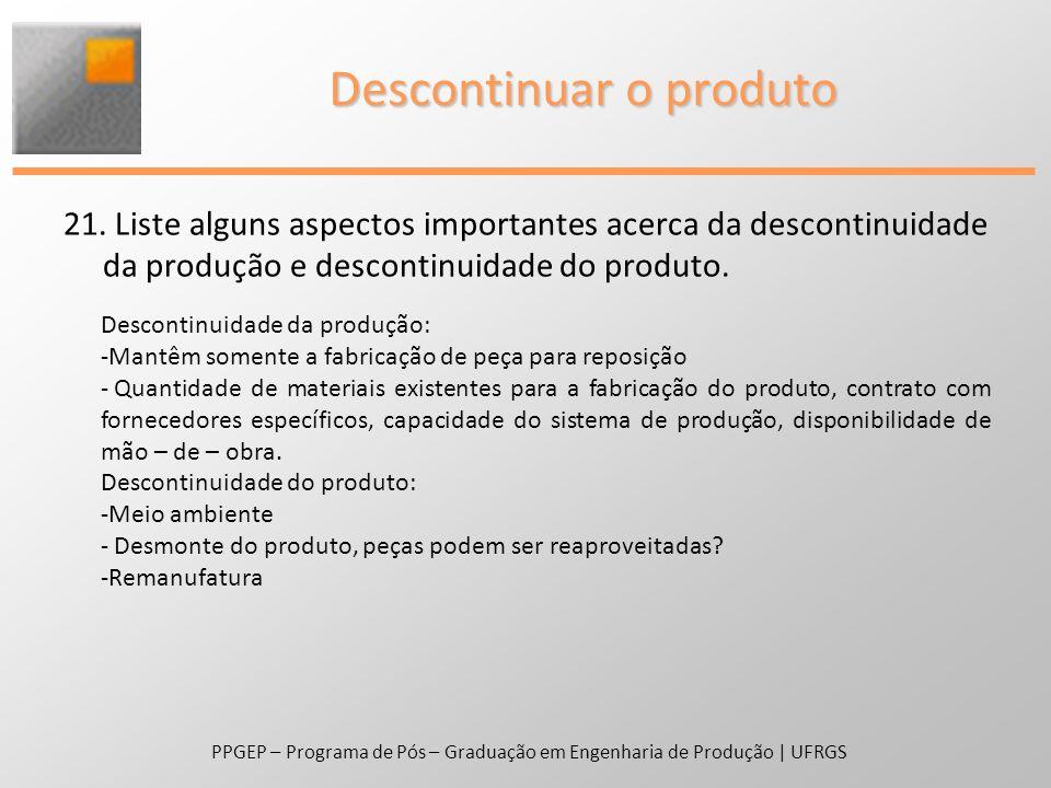 Descontinuar o produto