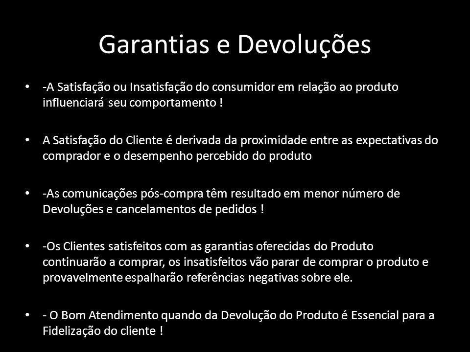 Garantias e Devoluções