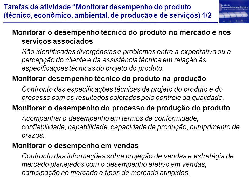 Monitorar desempenho técnico do produto na produção