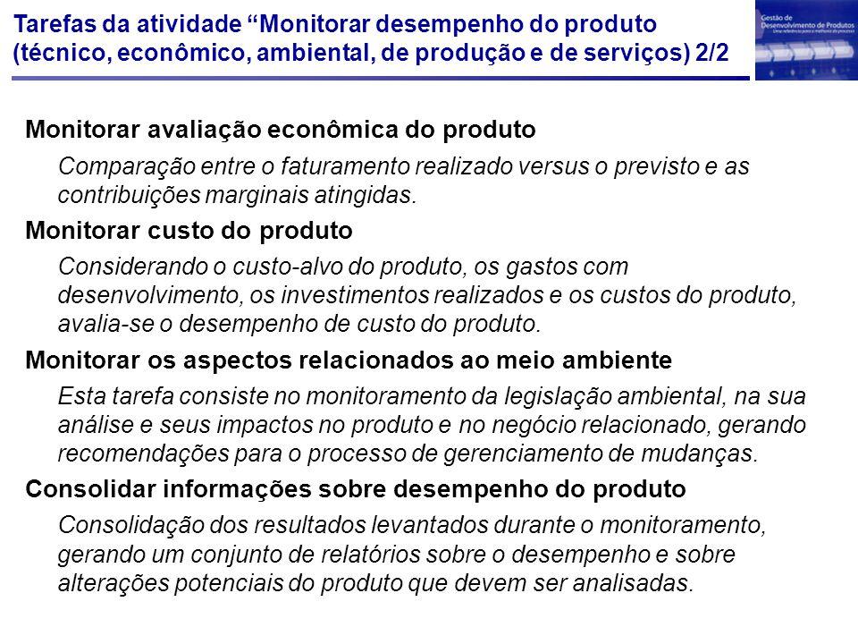 Monitorar avaliação econômica do produto