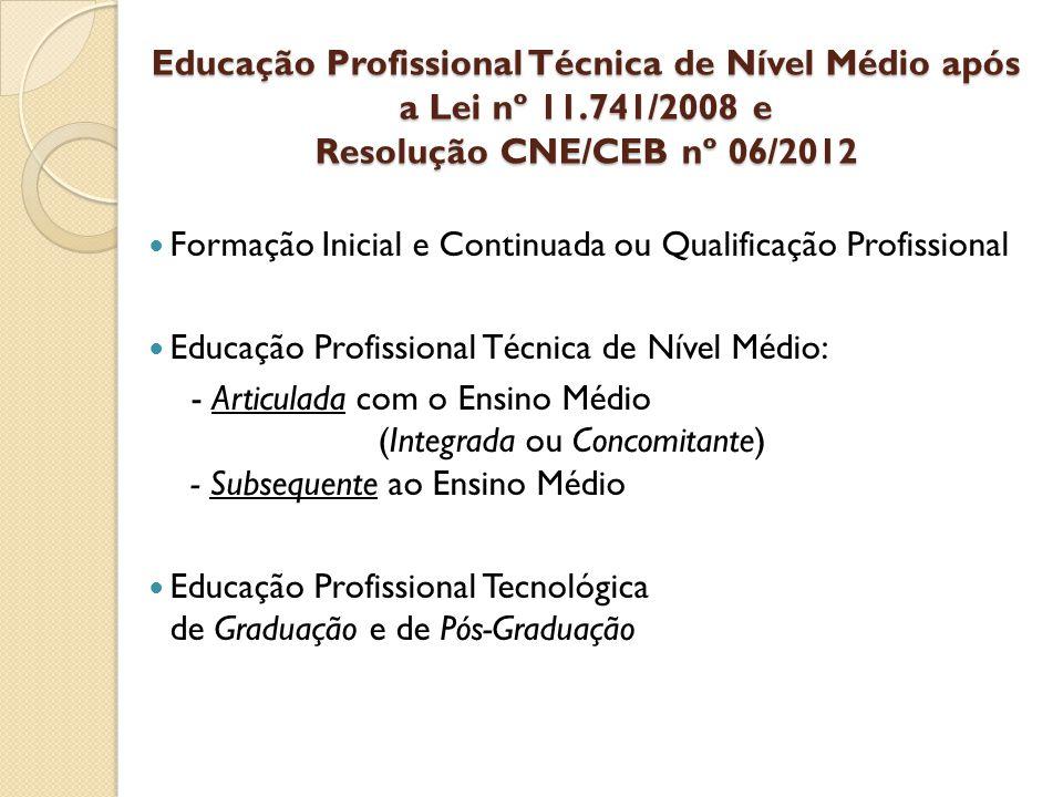 Educação Profissional Técnica de Nível Médio após a Lei nº 11