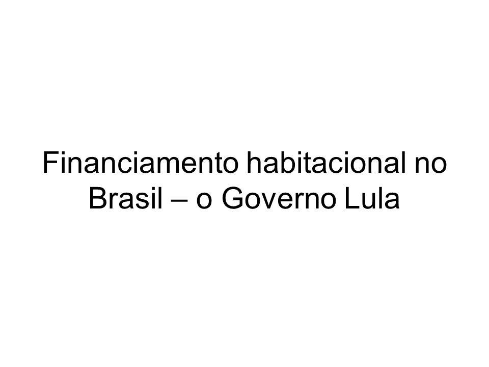 Financiamento habitacional no Brasil – o Governo Lula