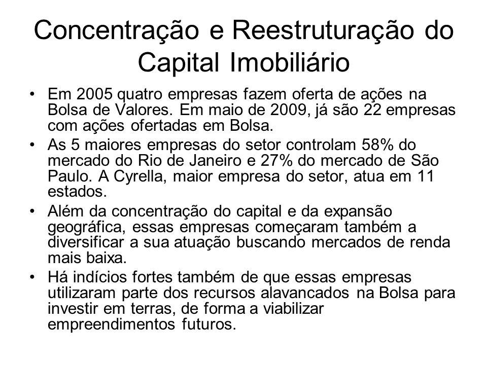 Concentração e Reestruturação do Capital Imobiliário