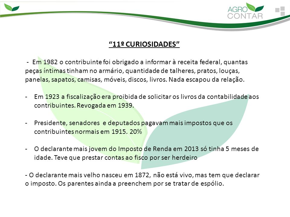11º CURIOSIDADES