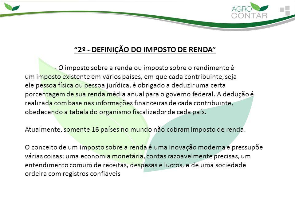 2º - DEFINIÇÃO DO IMPOSTO DE RENDA