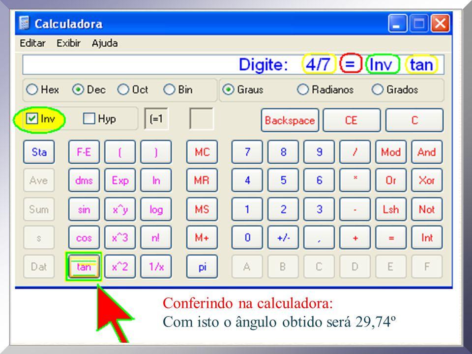 Conferindo na calculadora: