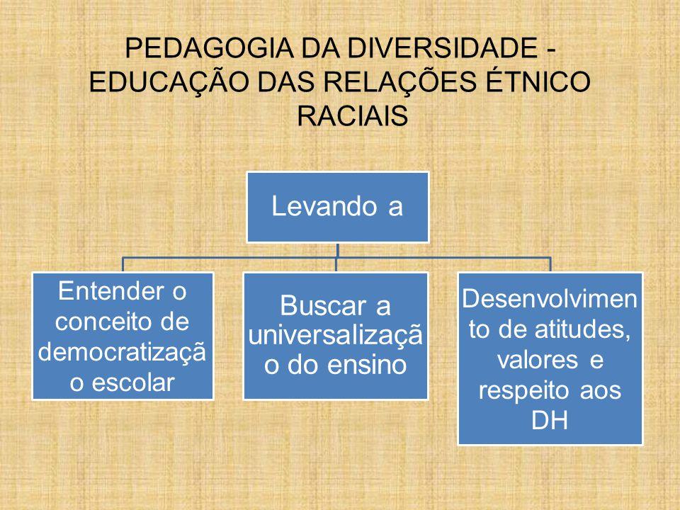 PEDAGOGIA DA DIVERSIDADE - EDUCAÇÃO DAS RELAÇÕES ÉTNICO RACIAIS