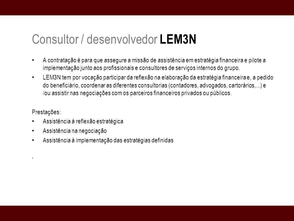 Consultor / desenvolvedor LEM3N