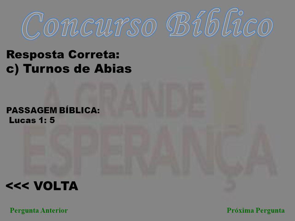 Concurso Bíblico c) Turnos de Abias <<< VOLTA