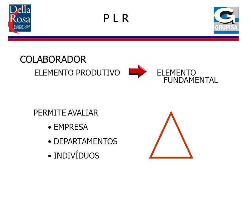 P L R COLABORADOR ELEMENTO PRODUTIVO ELEMENTO FUNDAMENTAL