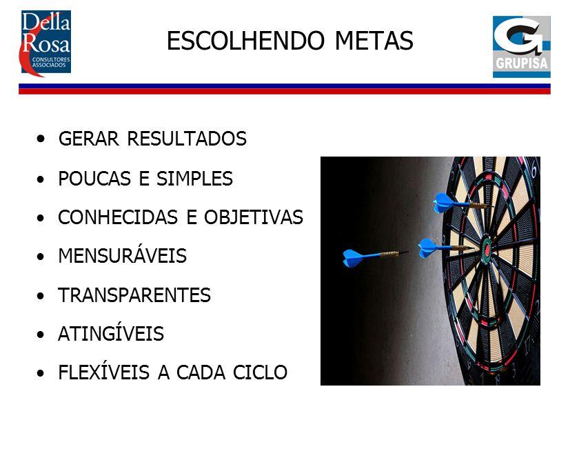 ESCOLHENDO METAS GERAR RESULTADOS POUCAS E SIMPLES