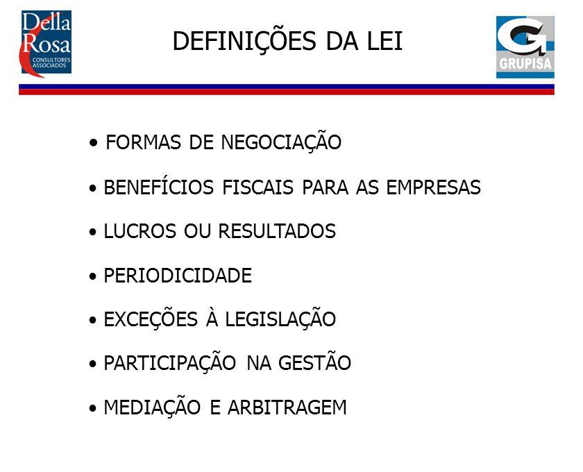 DEFINIÇÕES DA LEI FORMAS DE NEGOCIAÇÃO