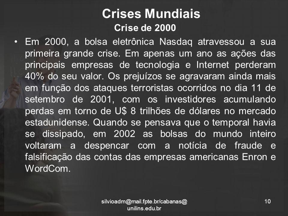 Crises Mundiais Crise de 2000
