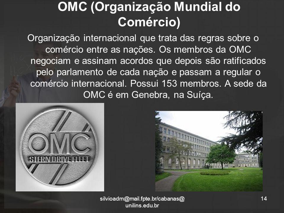 OMC (Organização Mundial do Comércio)